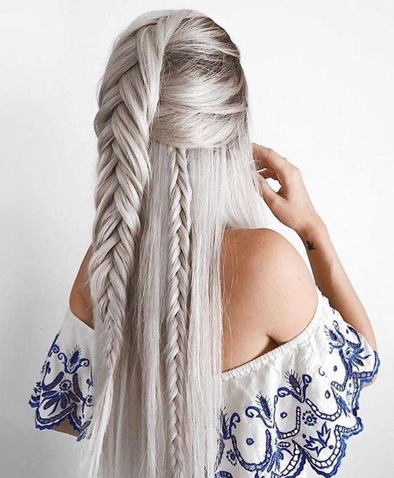 прически за дълга коса