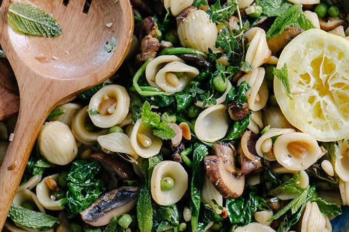 vegetariansko qstie pasta primavera s rikota