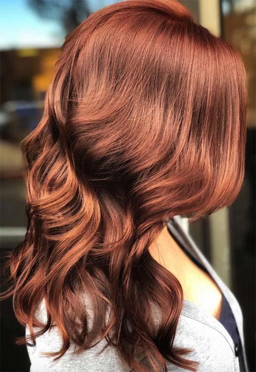 медно кестеняв цвят на косата
