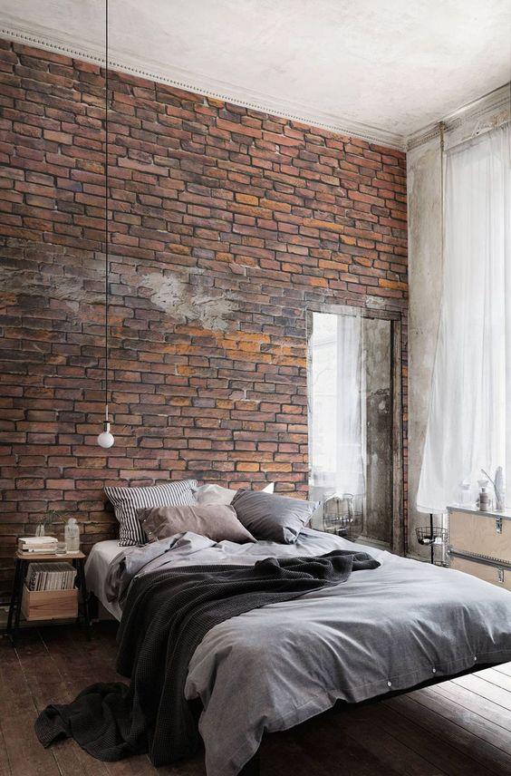 stena s dekorativni tuhli