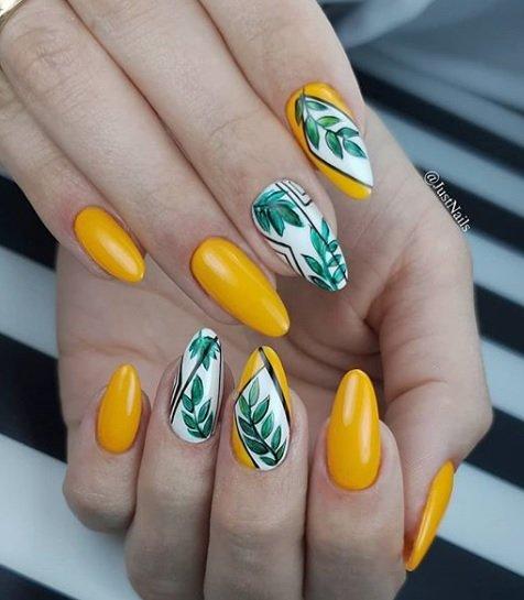 leten manikur za dulgi nokti